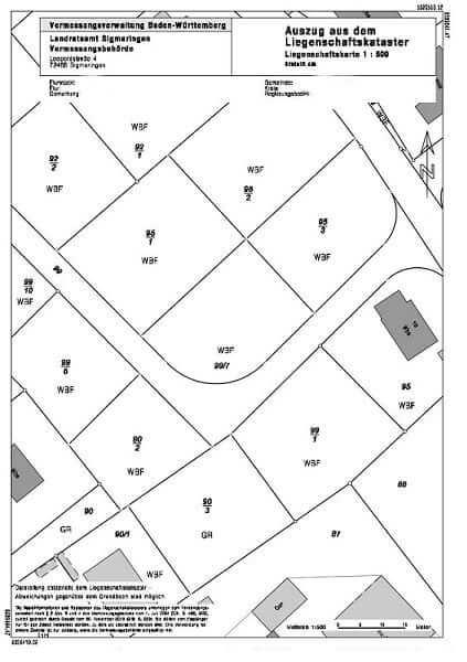 Amtlicher Lageplan Immobilienmakler Langenargen