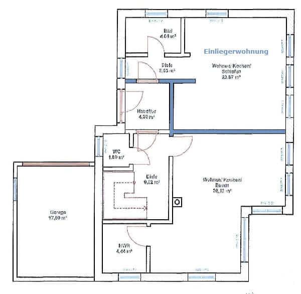 Einliegerwohnung im Einfamilienhaus