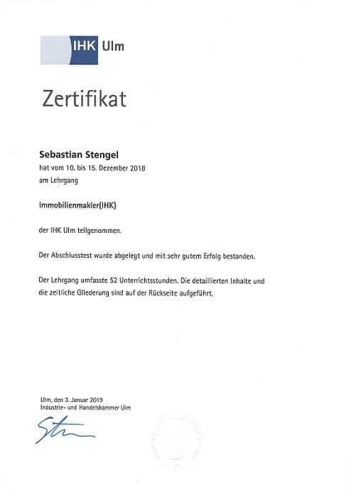 Zertifizierter Immobilienmakler IHK